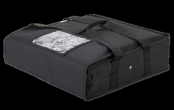 black delivery bag